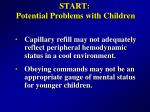 start potential problems with children13