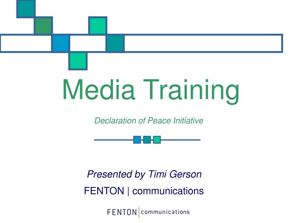 media training l.