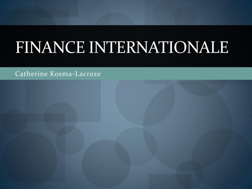 finance internationale l.