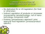 current regulation of nanotechnology in food