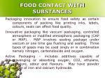 food contact with substances