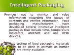 intelligent packaging