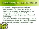 nanotechnology in the food market