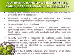 outbreak handling mechanisms early detection and traceability10