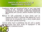 safety of botanicals in traditional foods14