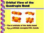 orbital view of the quadruple bond