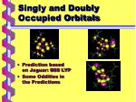 singly and doubly occupied orbitals