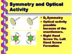 symmetry and optical activity