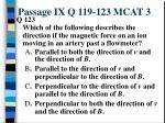 passage ix q 119 123 mcat 35