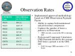 observation rates