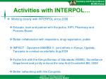 activities with interpol