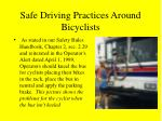 safe driving practices around bicyclists14