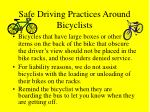 safe driving practices around bicyclists15
