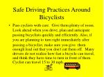 safe driving practices around bicyclists17
