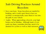 safe driving practices around bicyclists18