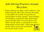 safe driving practices around bicyclists19