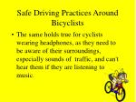 safe driving practices around bicyclists21