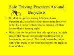 safe driving practices around bicyclists22