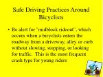 safe driving practices around bicyclists23