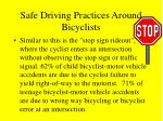 safe driving practices around bicyclists24