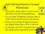 safe driving practices around pedestrians43