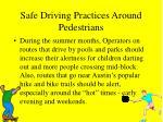 safe driving practices around pedestrians44