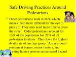 safe driving practices around pedestrians46