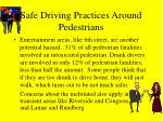 safe driving practices around pedestrians48