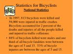 statistics for bicyclists national statistics
