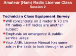 amateur ham radio license class session 2