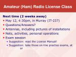 amateur ham radio license class