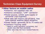 technician class equipment survey10