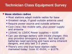 technician class equipment survey12