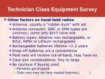 technician class equipment survey7