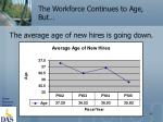 the workforce continues to age but