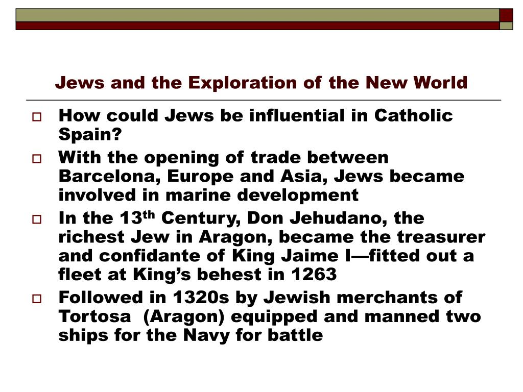 jews and the exploration of the new world l.