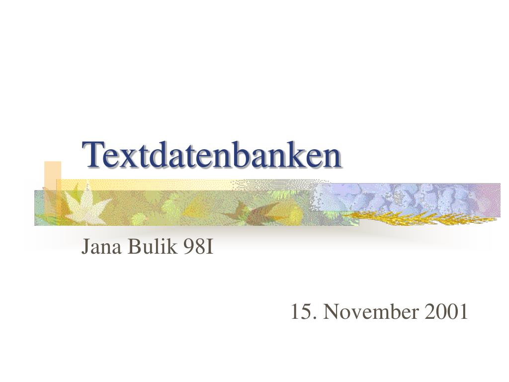 textdatenbanken l.