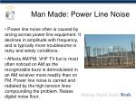 man made power line noise