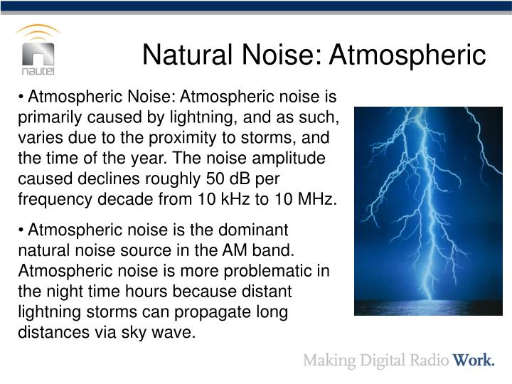Natural noise atmospheric