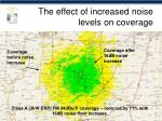 the effect of increased noise levels on coverage