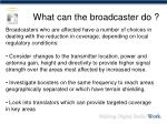 what can the broadcaster do