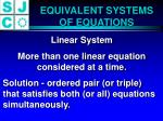 equivalent systems of equations