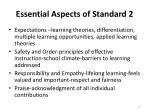 essential aspects of standard 2