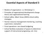 essential aspects of standard 3