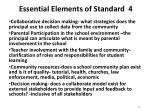 essential elements of standard 4