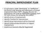 principal improvement plan