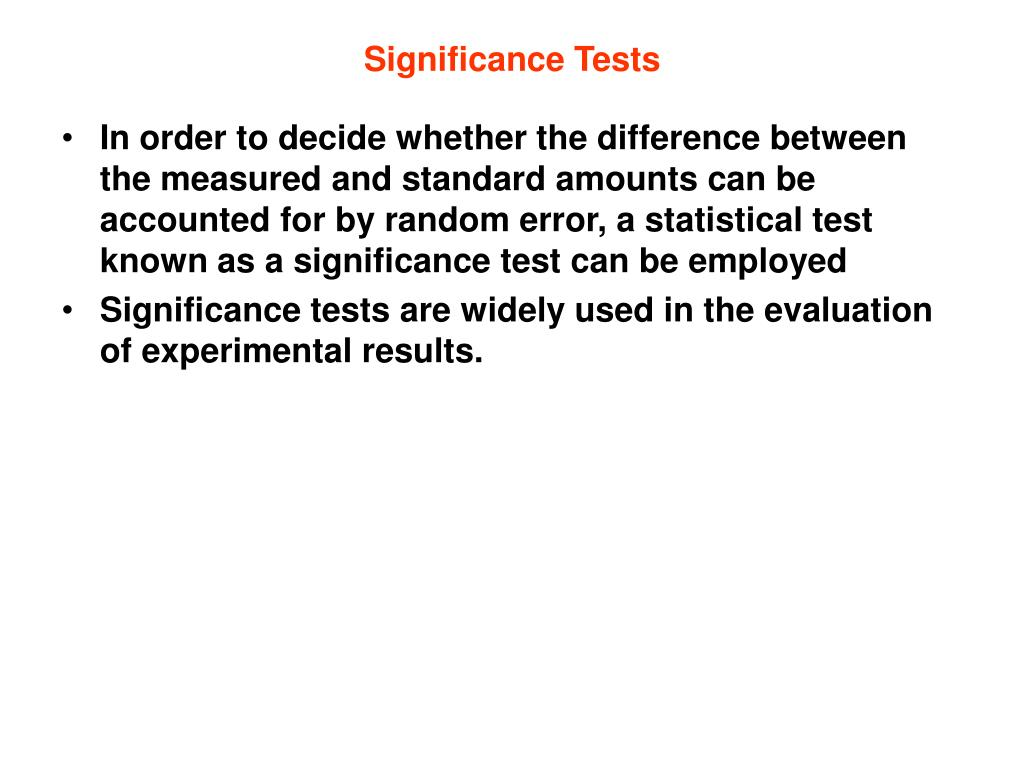 significance tests l.