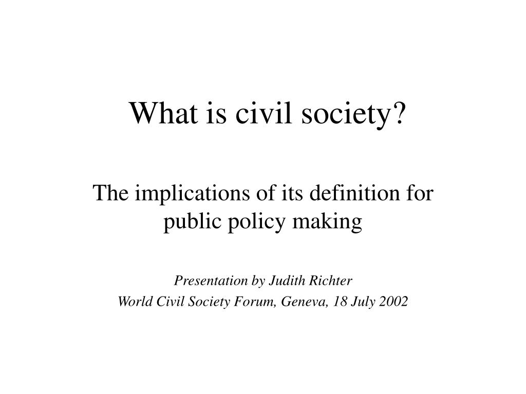 what is civil society l.