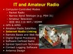 it and amateur radio