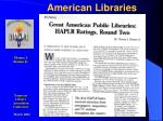 american libraries
